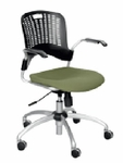 Sassy Modern Custom Manager Upholstered Swivel Chair,with Arms [4182-UMWA-FS-SAF]