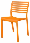 Savannah Outdoor Stackable Armless Side Chair - Orange [SC-2603-162-ORN-SCON]