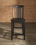 School House Bar Stool in Black Finish with 24'' Seat Height - Set of 2 [CF500324-BK-FS-CRO]