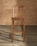 School House Bar Stool in Classic Cherry Finish with 30'' Seat Height - Set of 2 [CF500330-CH-FS-CRO]
