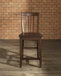School House Bar Stool in Vintage Mahogany Finish with 24'' Seat Height - Set of 2 [CF500324-MA-FS-CRO]