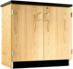 Science Lab Wooden Base Cabinet with 2 Locking Doors - 36''W x 22''D x 35''H [103-3622-DW]