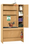ADA Science Lab Safety Station with Washing Station and Fire Safety Equipment - 48''W x 22''D x 84''H [6950K-DW]