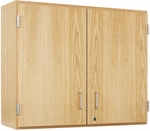 Science Lab Wooden Wall Cabinet with 2 Adjustable Shelves and Locking Doors - 36''W x 12''D x 30''H [D03-3612-DW]