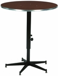 Sealed Plywood 24''Diameter Top Adjustable Tri-Height Cocktail Table - 30-42''H [ACR24E-MFT]