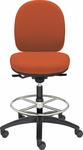 Seatwise Medium Height Drafting Stool with Contoured Seat and Back [SW9820M-FS-VALO]