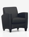 Sebring Contemporary Side Chair - Black Simulated Leather [CH108105B5000-FS-DMI]