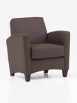 Sebring Contemporary Side Chair - Java and Brown Simulated Leather [CH108105B5070-FS-DMI]