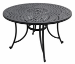 Sedona 48'' Cast Aluminum Dining Table in Charcoal Black Finish [CO600148-BK-FS-CRO]