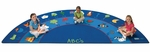 Fun With Phonics Oval Nylon Rug - 90''W x 144''D [9618-FS-CAP]