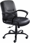 Serenity™ Big and Tall Mid Back 26'' W x 42.5'' H Adjustable Height Leather Chair - Black [3501BL-FS-SAF]