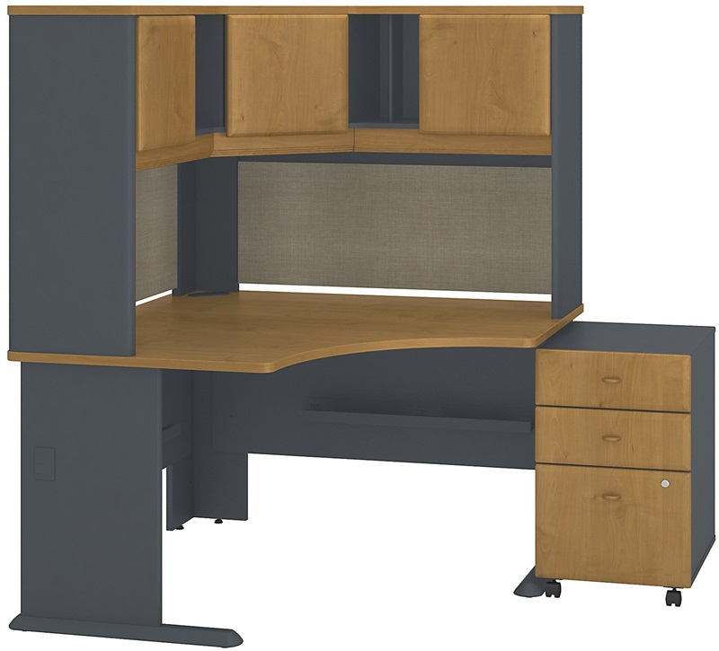 Series A Collection 48 W X 48 D Corner Desk With Hutch