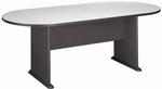 82'' W x 35'' D Racetrack Conference Table - Slate and White Spectrum [TR84284A-FS-BBF]