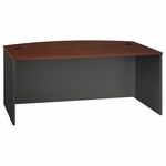 Series C 72'' W x 36'' D Bow Front Desk - Hansen Cherry and Graphite Gray [WC24446-FS-BBF]
