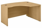 Series C 60'' W x 43'' D L-Bow Desk - Light Oak [WC60322-FS-BBF]