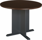 42'' Round Conference Table - Mocha Cherry [TB12942A-FS-BBF]