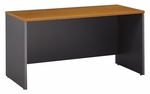 Series C 60'' W x 24'' D Credenza Shell - Natural Cherry and Graphite Gray [WC72461-FS-BBF]