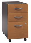 Series C Three Drawer Mobile Pedestal File - Natural Cherry and Graphite Gray [WC72453-FS-BBF]