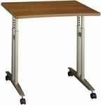 Series C Adjustable Height Mobile Table - Warm Oak [WC67582-FS-BBF]