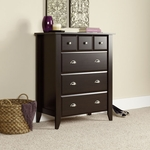Shoal Creek 35''W x 43''H 4 Drawer Wooden Storage Chest with Metal Hardware - Jamocha [409714-FS-SRTA]