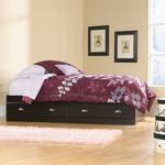 Shoal Creek Platform Bed with Storage - Twin - Jamocha [412093-FS-SRTA]