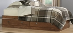 Shoal Creek 38''W x 15''H Twin Size Wooden Bed with 2 Under-Bed Drawers - Oiled Oak [411899-FS-SRTA]