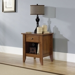 Shoal Creek 21''W x 24''H Wooden Night Stand with Open Storage - Oiled Oak [410412-FS-SRTA]