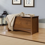 Shoal Creek 35''W x 19''H Wooden Storage Chest with Lid-Stay Safety Hardware -Oiled Oak [412221-FS-SRTA]