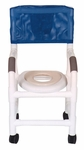 Shower Chair For Small Adult or Pediatric Needs with Casters - 19''W X 16''D X 36''H [115-3TW-RH-MJM]