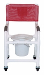 Shower Chair with Tilt Seat and 3'' Rust Proof Threaded Stem Casters - 22''W X 18''D X 40''H [118-3TW-TS-10QT-C-MJM]
