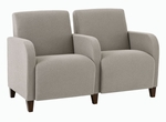 Siena Series 2 Seats with Center Arm [Q2403G3-FS-RO]