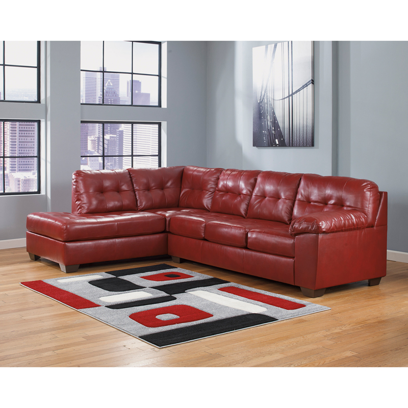 signature design by ashley alliston sectional in salsa durablend by flash furniture bizchaircom