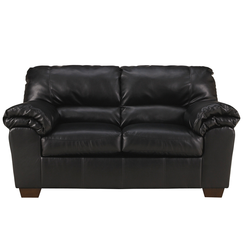 Signature Design By Ashley Commando Living Room Set In Black Leather Fsd 2129set Blk Gg By