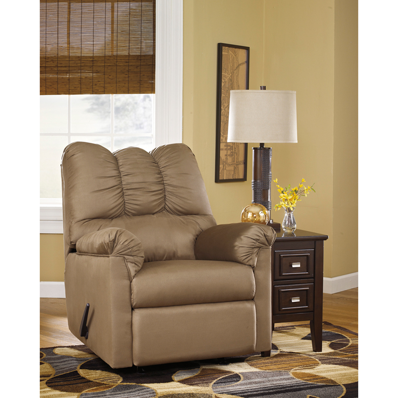 signature design by ashley darcy rocker recliner in mocha microfiber by flash furniture bizchaircom
