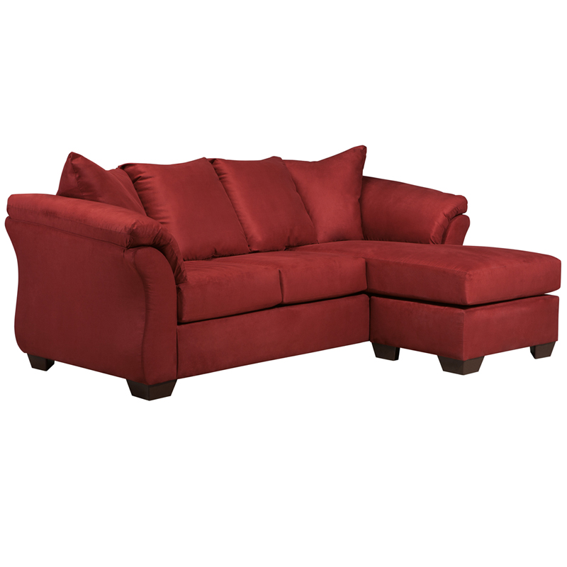 Signature design by ashley darcy sofa chaise in salsa for Ashley microfiber sectional with chaise