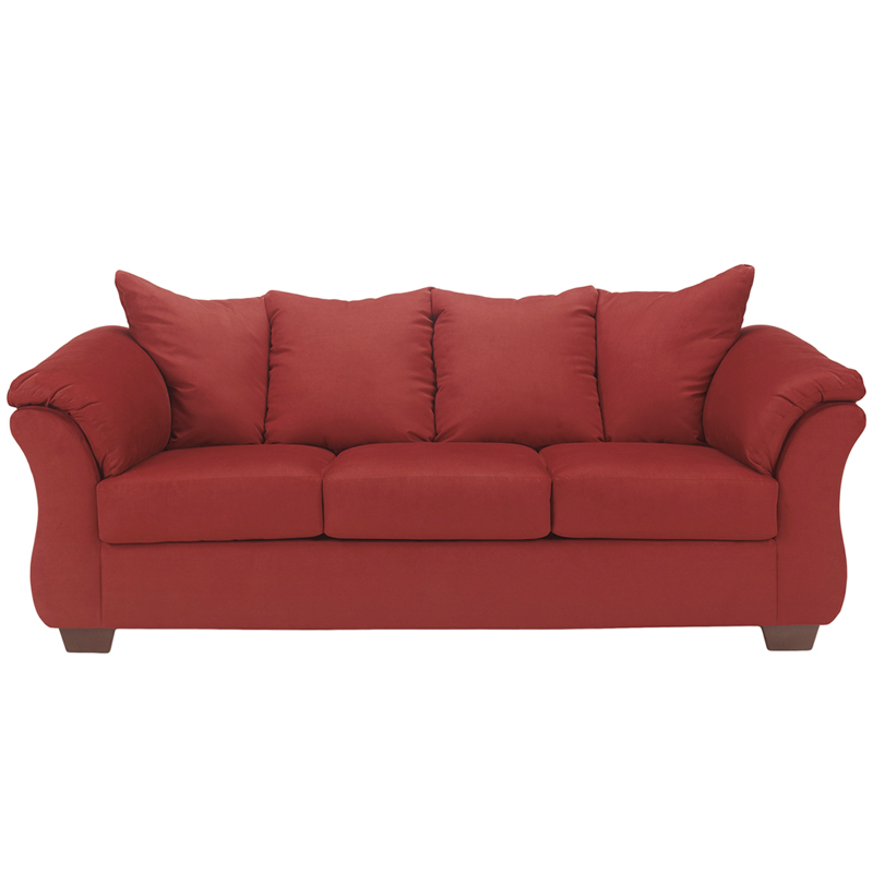 Signature Design By Ashley Darcy Sofa In Salsa Microfiber Fsd 1109so Red Gg By Flash Furniture