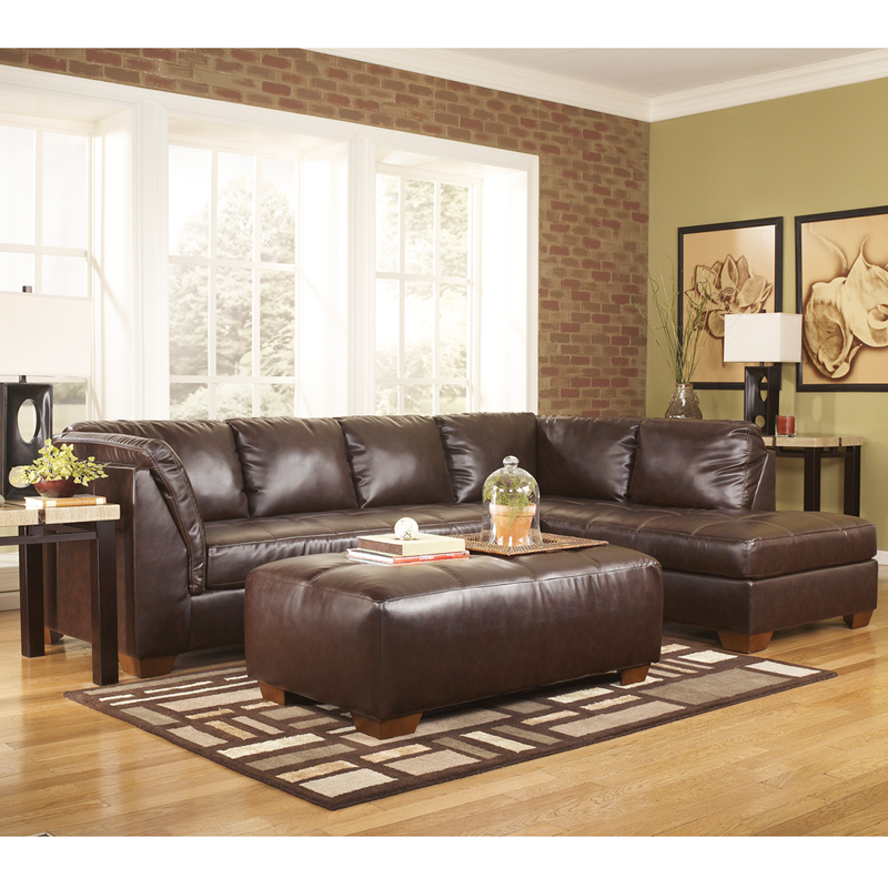 Signature design by ashley fairplay sectional with right for Ashley furniture leather sectional with chaise