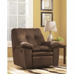 Signature Design by Ashley Mercer Rocker Recliner in Cafe Fabric [FSD-7199REC-CAF-GG]