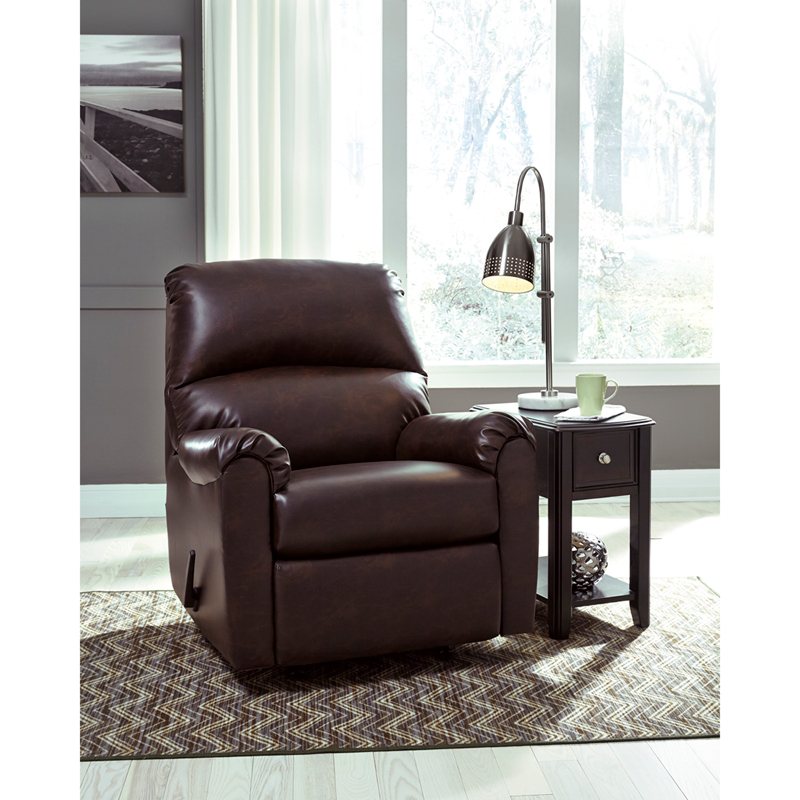 Signature Design By Ashley Talco Rocker Recliner In Burgundy Faux Leather Fsd 5199rec Brg Gg By