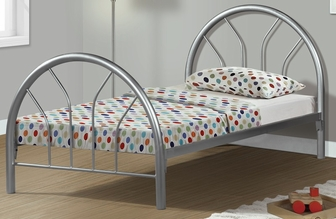 metal bed frame with metal slats twin silver i 2389s fs msp - Silver Metal Bed Frame
