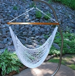 Domestic Soft Polyester Hanging Hammock Rope Chair - White [4987-FS-ALG]