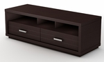 Skyline Collection Contemporary Chocolate TV Stand [4359663-FS-SS]