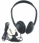 Personal Stereo Headphones with Six Foot Cord and Fully Adjustable Molded Plastic Headband - 8''W x 10''D x 4''H [SL1006-FS-AMP]