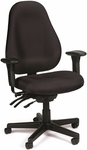 Slider High Back 27.5'' W x 25'' D x 41.5'' H Adjustable Height Office Chair with Casters - Black [1701-AT33-FS-EURO]