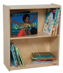 Toddler Sized Small Bookcase with Two Fixed Shelves - Assembled - 24''W x 11''D x 28''H [15900-WDD]