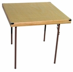 Caterer Elite Series Medium Card Table with Non Marring Floor Glides - 34''W x 34''L x 30''H [223000-MES]
