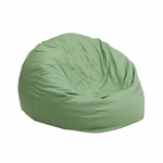 Small Solid Green Kids Bean Bag Chair [DG-BEAN-SMALL-SOLID-GRN-GG]