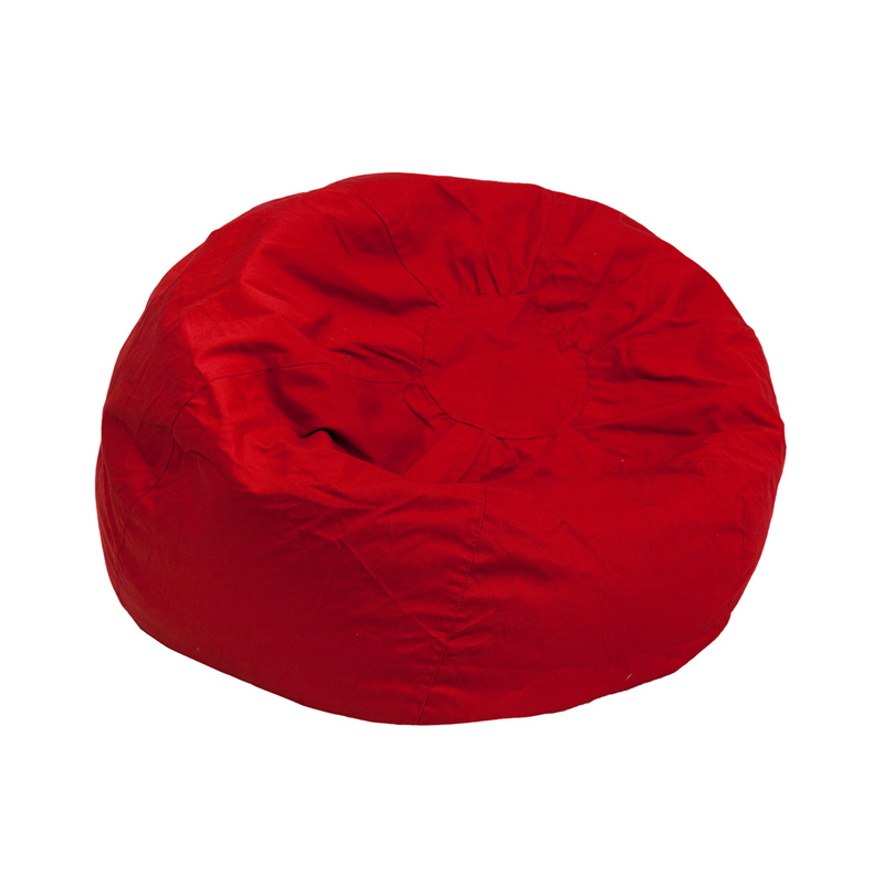 small solid red kids bean bag chair dg bean small solid red gg by flash furniture. Black Bedroom Furniture Sets. Home Design Ideas