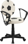 Soccer Swivel Task Chair with Arms [BT-6177-SOC-A-GG]
