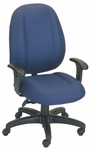 Soft-Sit 24'' W x 22'' D x 44.5'' H Adjustable Height and Width High-Back Chair with Deluxe V Task Control [E-52882V-FS-EOF]